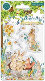 CCSTMP059 Craft Consortium Bluebells and Buttercups Bench Clear Stamps
