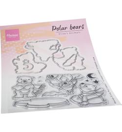 EC0193 Clear Stamp & Die Eline's Polar bears