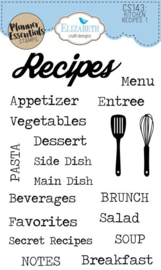 CS143 ECD Clearstamps Kitchen Recipes 1
