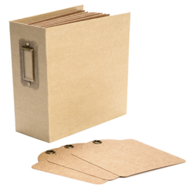 4501286 Graphic 45 Square Tag & Pocket Album Kraft