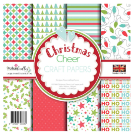 PD7968 Polkadoodles Christmas Cheer 6x6 Inch Paper Pack