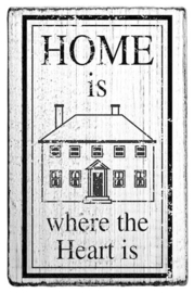 V01003 Colop Home is where the Heart is Vintage Rubber Stamps