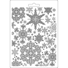 K3PTA556 Stamperia Soft Mould A5 Snowflakes