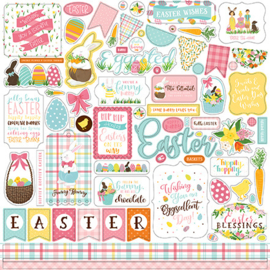 LEA205014 Echo Park I Love Easter 12x12 Inch Element Sticker