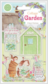 CCSTMP030 Craft Consortium Cottage Garden The Potting Shed Stamps