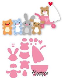 COL1422 Marianne Design Collectables Eline's baby dieren