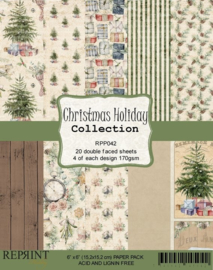 RPP042 Reprint Collection 6x6 Inch Paper Pack Holiday Collection