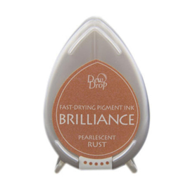 BD-000-061 Dew Drop Brillance Ink Pad Pearlescent Rust