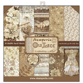 SBBL32 Stamperia 12x12 Inch Old Lace