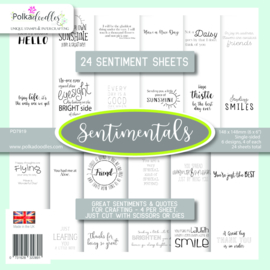PD7919 Polkadoodles Sentiment 6x6 Inch Paper Pack