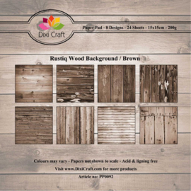 PP0092 Dixi Craft Rustiq Wood Background - Brown