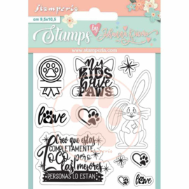 WTKJR35 Stamperia Circle of Love Rabbit Clear Stamps