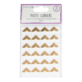 DCBS239 Dovecraft Essentials Photo Corners Gold