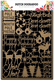 479.002.012 Laser Paper Art A5 Kraft Christmas