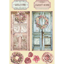 KLSP098 Stamperia Wooden Shapes A5 Passion Home