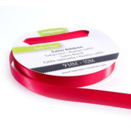 301002-2009 Vaessen Creative satijnlint dubbel 9mm - 10m rood