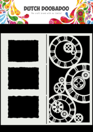 470.784.005 Mask Art Slimline Clocks