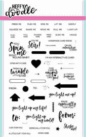 HFD0009 Heffy Doodle Interactively Yours Clear Stamps