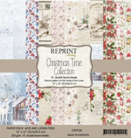 CRP008 Reprint 12x12 Inch Collection Pack  Christmas Time