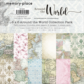 MP-60609 Memory Place 6x6 Inch Paper Pack  Around the World