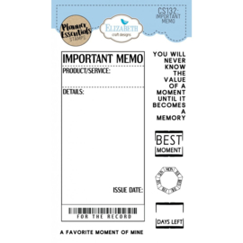 CS132 ECD Clearstamps Important Memo
