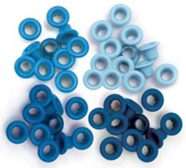 41578-7 We R Memory Keepers standard eyelets x60 Blue