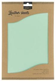 FLSSL07  Fake Leather Sheets - aqua