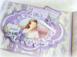 6011/0591 Paper bloc Lavender Garden