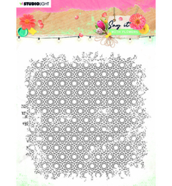 SL-SWF-STAMP528 Clear Stamp background Say it with flowers