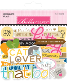 BB2273 Bella BLVD Chloe Ephemera Words (103pcs)