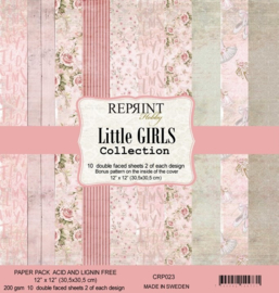 CRP023 Reprint 12x12 Inch Collection Pack  Little Girls