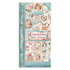 SBBVB09 Stamperia Pink Christmas 6x12 Inch Paper Pack