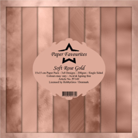 PF149 Paper Favourites Soft Rose Gold 6x6 Inch Paper Pad