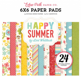 HS105023 Echo Park Happy Summer 6x6 Inch Paper Pad