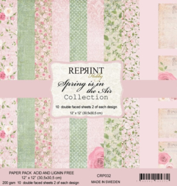 CRP032 Reprint 12x12 Inch Paper Pack Spring