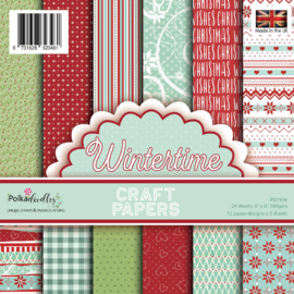 PD7976 Polkadoodles Wintertime 6x6 Inch Paper Pack