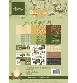 PK9176 Pretty Papers - De natuur in by Marleen
