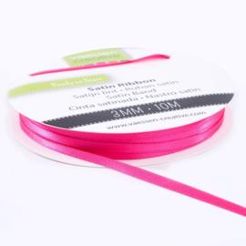 301002-0007 Vaessen Creative satijnlint dubbel 3mm - 10m pink