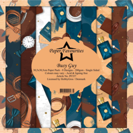 PF357 Paper Favourites 12x12 Inch Paper Pack  Busy Guy