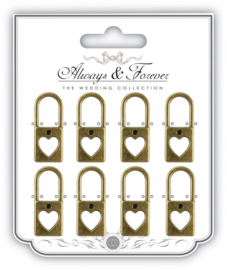 AFMCHRM003 Metal Lock Charms Large
