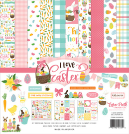 LEA205016 Echo Park I Love Easter 12x12 Inch Collection Kit
