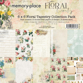 MP-60376 Memory Place Floral Tapestry 6x6 Inch Paper Pack