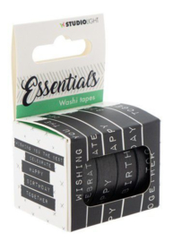 WASHISL04 SL Washi tape black/white - Essentials nr.04