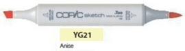 YG21 Copic Sketch Marker Anise