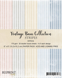 RPP016 Reprint  Collection 6x6 Inch Paper Pack Stripes