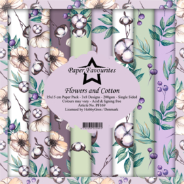 PF169 Paper Favourites 6x6 Inch Paper Pack Flowers and Cotton