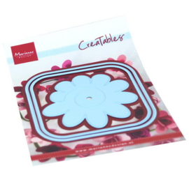 LR0673 Creatables Square box and flower