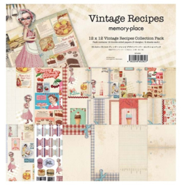 MP-60282 Memory Place Vintage Recipes 12x12 Inch Paper Pack