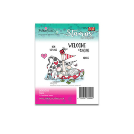 PD8079 Polkadoodles Gnome Voyage Clear Stamp