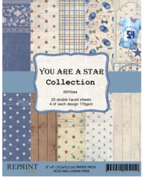 RPP044 Reprint You are a Star Collection 6x6 Inch Paper Pack